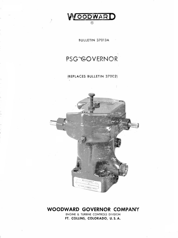 WOODWARD GOVERNOR COMPANY ENGINE & TURBINE CONTROLS SERVICE BOOK