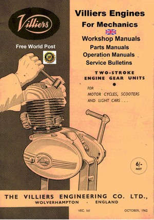 Villiers Engine Service Manuals For Mechanics