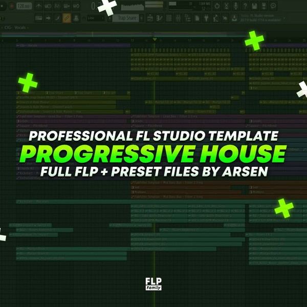 Professional Progressive House Template by Arsen [FULL FLP]