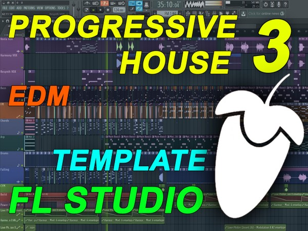 FL Studio - EDM Progressive House Template 3