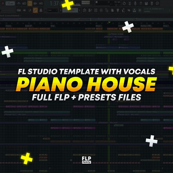 Piano House Template (WITH  VOCALS) [FULL FLP + Preset Files]