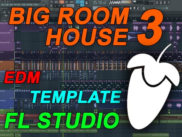 FL Studio - EDM Big Room House Template 3