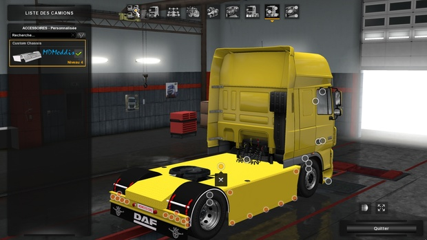 Chassis Custom 4x2 Daf XF 105 by SCS