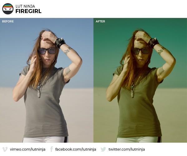 Fire Girl 3D LUT Color correction grading file by LUT Ninja