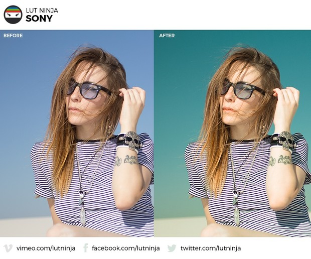 Sony 3D LUT Color correction grading file by LUT Ninja