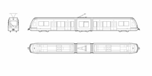 SIEMENS - S70 Light Rail Vehicle (dwg file)