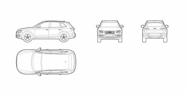 Audi Q5 (dwg file)