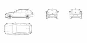 BMW 1 serie - 5 doors (dwg file)