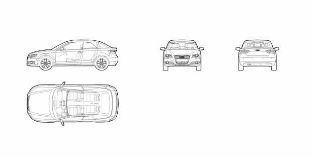 Audi A3 Cabriolet (dwg file)