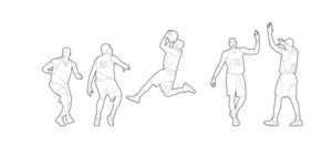 Basketball players - 01 (dwg file)