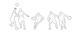 Basketball players (dwg file)