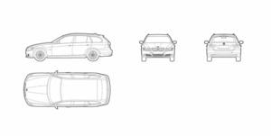 BMW 3 series touring (dwg file)