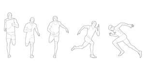 Foot race athletes