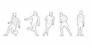 Soccer players (dwg file)