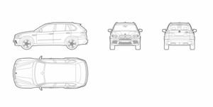 BMW X5 (dwg file)