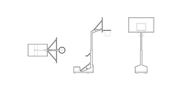 Backboard and basket (dwg file)