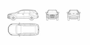 Audi Q7 (dwg file)