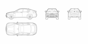 BMW X6 (dwg file)