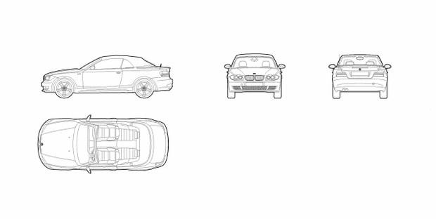 BMW 1 series cabriolet (dwg file)