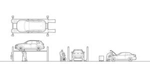 DUNLOP-4 post ATL car lift (dwg file)