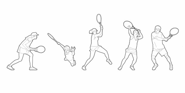 Tennis players (dwg file)