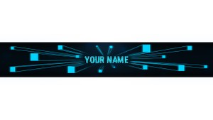 Pre-made Chrome YouTube Banner Template PSD - Savage Designs