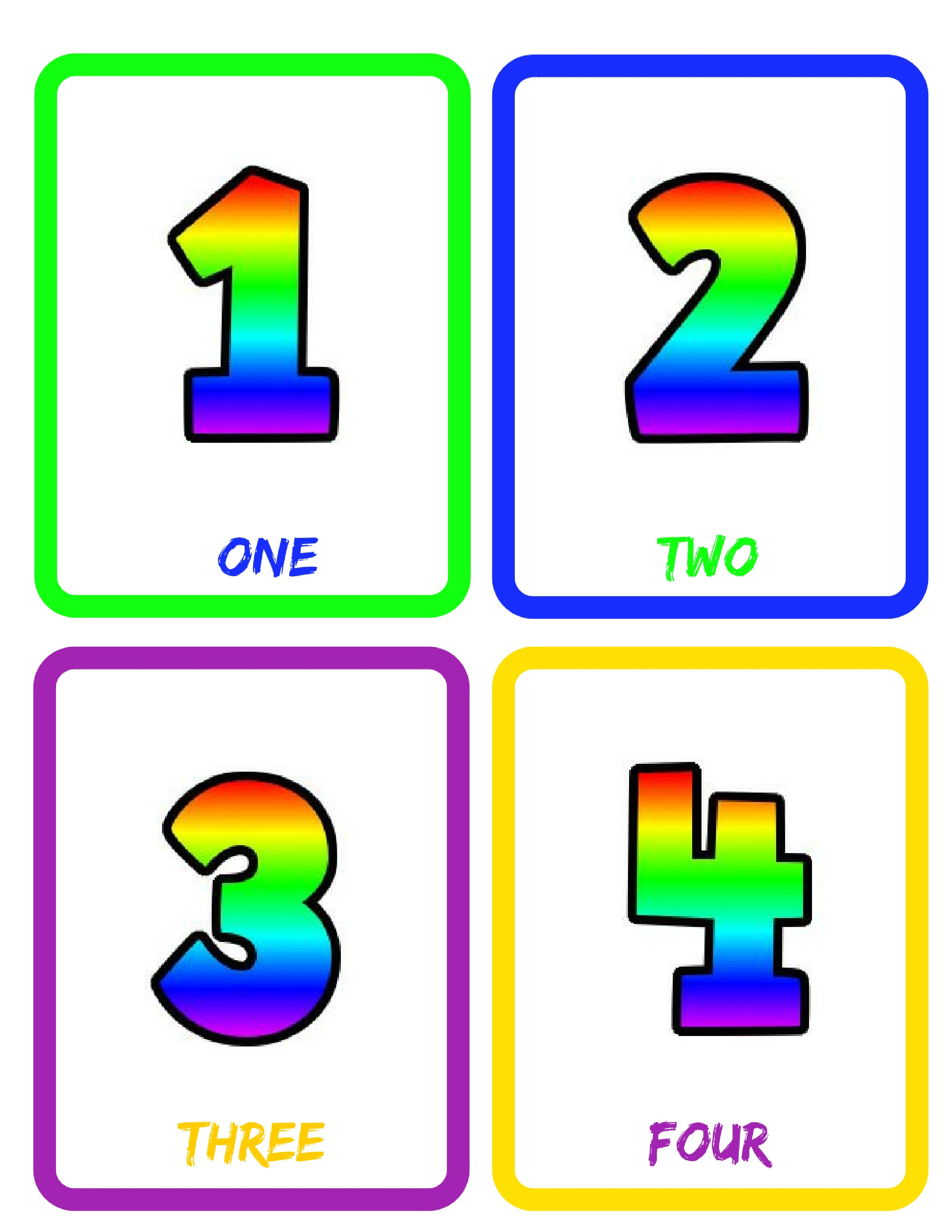 picture about Printable Number Flash Cards identify Figures (0-30) Flash Playing cards