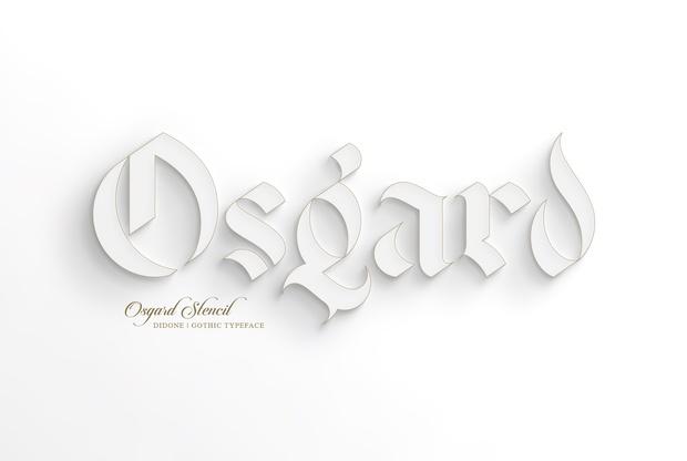 Osgard Stencil | Free Font