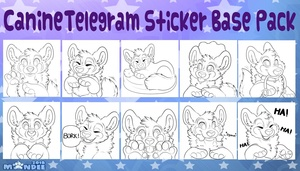 Canine Telegram Sticker Base Pack