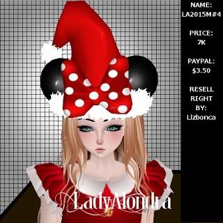 Minnie Santa Hat Mesh