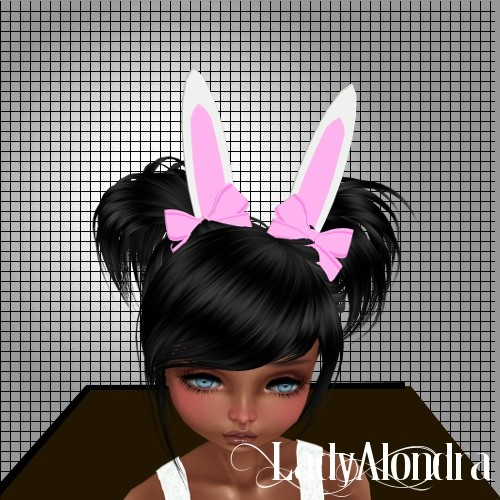 BUNNY EARS WITH BOW MESH