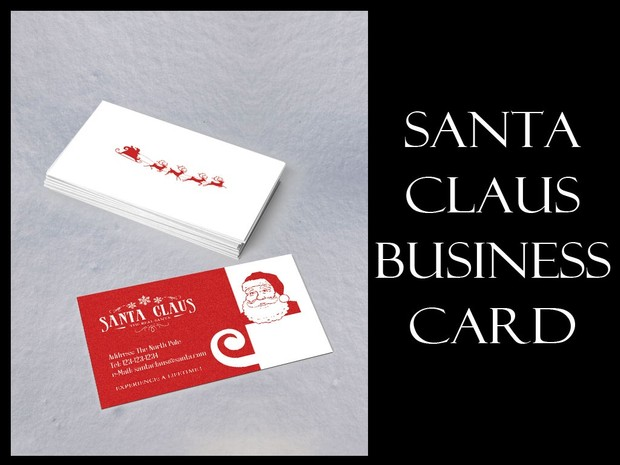 Santa business card 49rav santa business card colourmoves