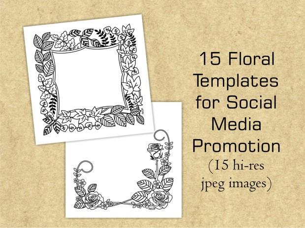 15 Floral Templates for Social Media Promotion