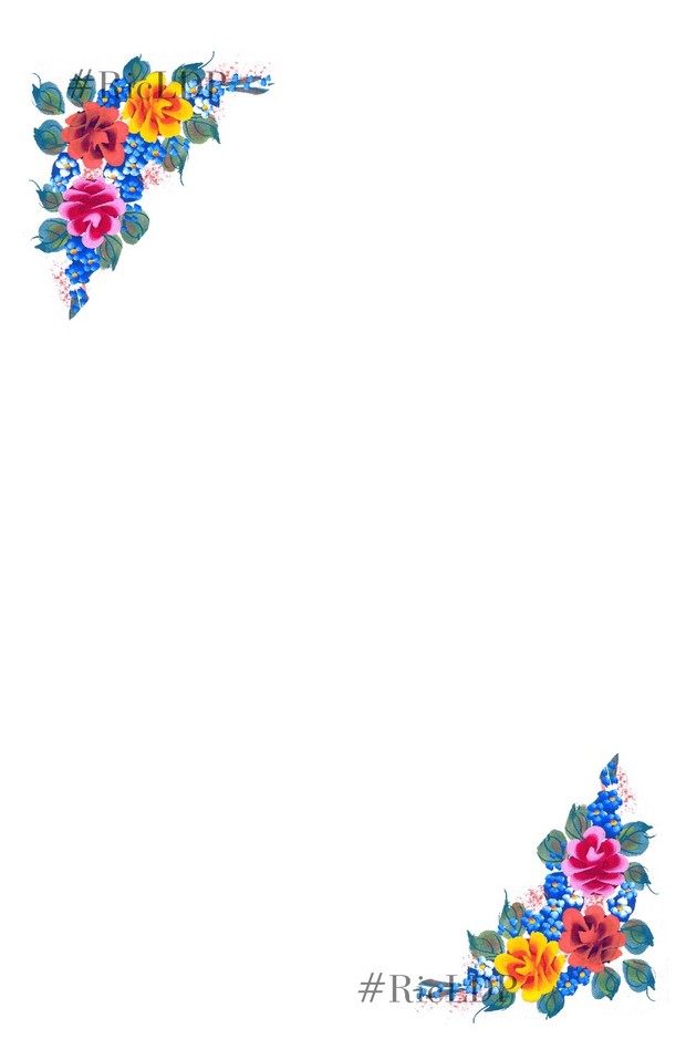 Hand painted Flower Stationery 1
