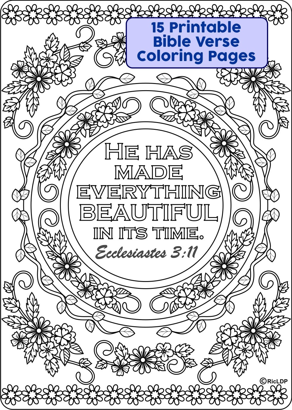 - 15 Bible Verses Coloring Pages - RicLDP Artworks