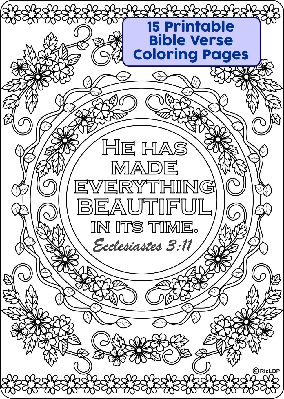 Free Printable Bible Verse Coloring Pages Mini Cards – Dialogueeurope | 1377x980