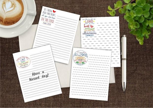 Four Bible Notepads