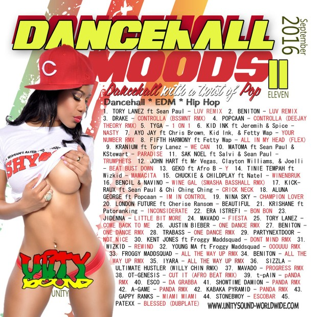 [Multi-Track Mp3 Download] Unity Sound - Dancehall Mood 11 - Twist of Pop Mix - Sept 2016