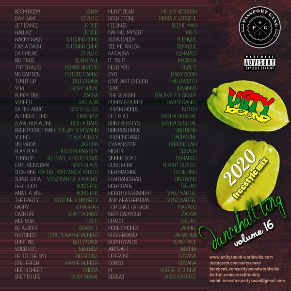 [Multi Track Download] Unity Sound - Dancehall Ting v16 - Freestyle Mix 2020