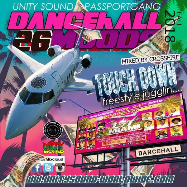 [Single-Tracked Download] Unity Sound - Dancehall Moods v26 - Touch Down - Fall Dancehall Mix 2018