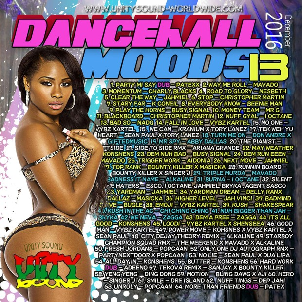 [Single-Tracked Download] Unity Sound - Dancehall Mood 13 - Dancehall Mix Dec 2016