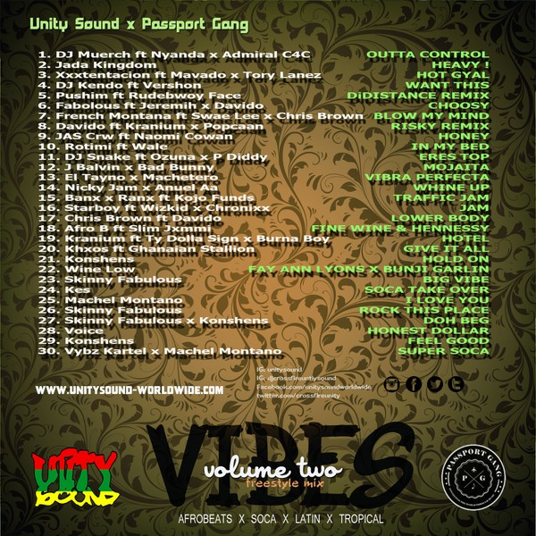 [Multi Track Download] Unity Sound - Vibes v2 - Tropical x Afrobeat x Soca x Latin Freestyle Mix 20