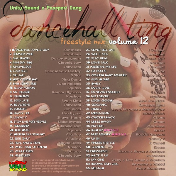 [Multi-Track Download] Unity Sound - Dancehall Ting v12 - Freestyle Mix 2019