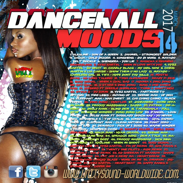[Single-Tracked Download] Unity Sound - Dancehall Moods 14 - Dancehall Mix 2017