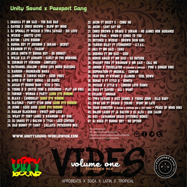 [Multi-Track Download] Unity Sound - Vibes Volume 1 - Afrobeats x Latin x Soca x Tropical Mix 2019