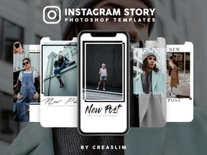 5 Instagram Story Templates PSD 2018