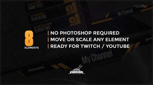 Stream Overlay | Tech Yellow - No Photoshop!