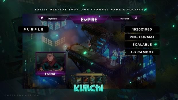 Stream Overlay - Kimchi (Purple) w/ Cambox, No Photoshop