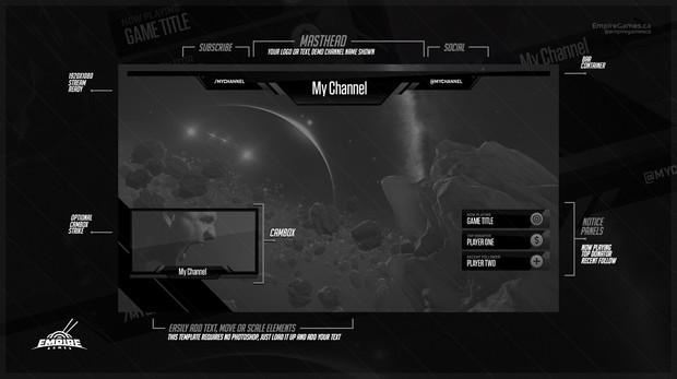 Stream Overlay   Tech Grey - No Photoshop!
