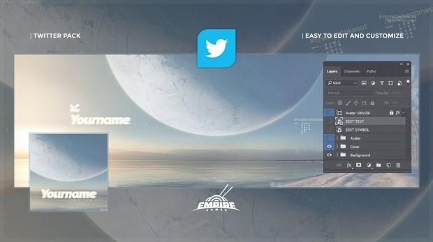 Twitter - Vega (Cover/Avatar) PSD